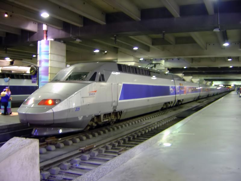 A to B France - TGV train inside Gare Montparnasse